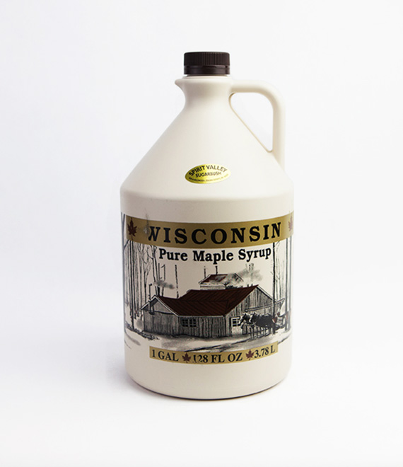 Spirit Valley Wisconsin 100% Pure Maple Syrup-128 oz.