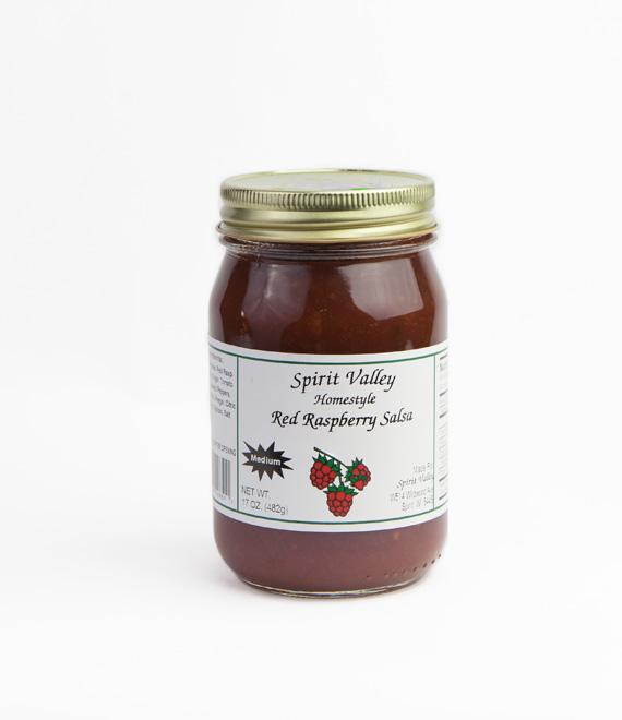 Spirit Valley Homemade Red Raspberry Salsa-17 oz