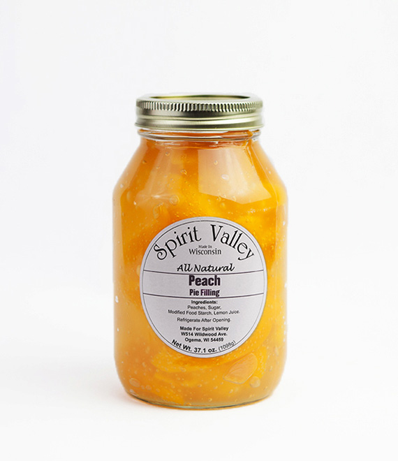 Spirit Valley Peach Pie Filling–37.1 oz