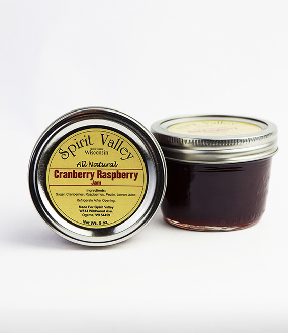 Spirit Valley Cranberry Raspberry Jam-9 oz