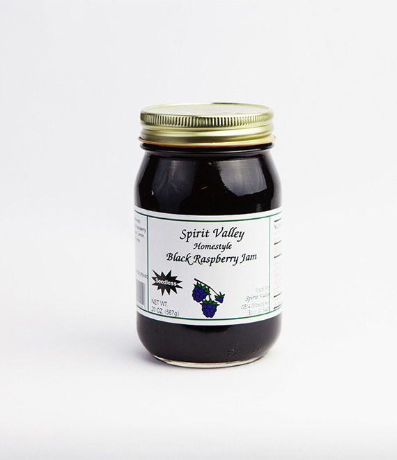 Spirit Valley Black Raspberry Seedless Jam-20oz