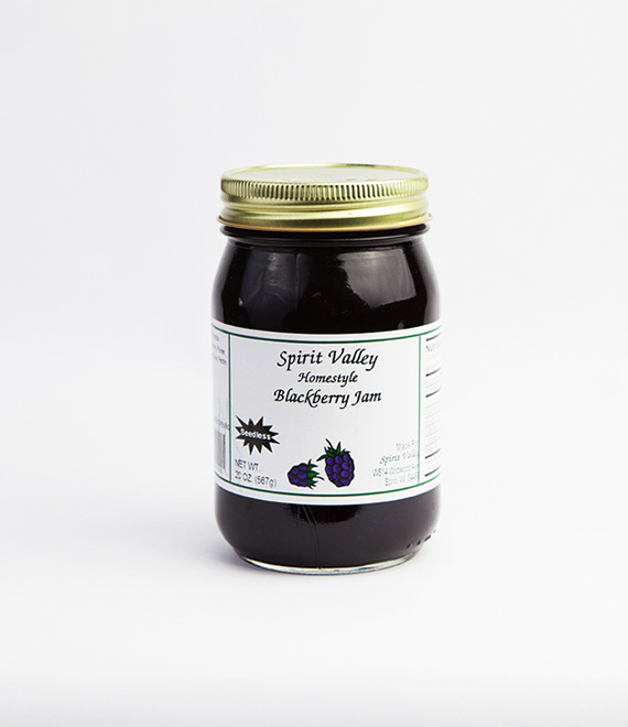 Spirit Valley Blackberry Seedless Jam-20 oz