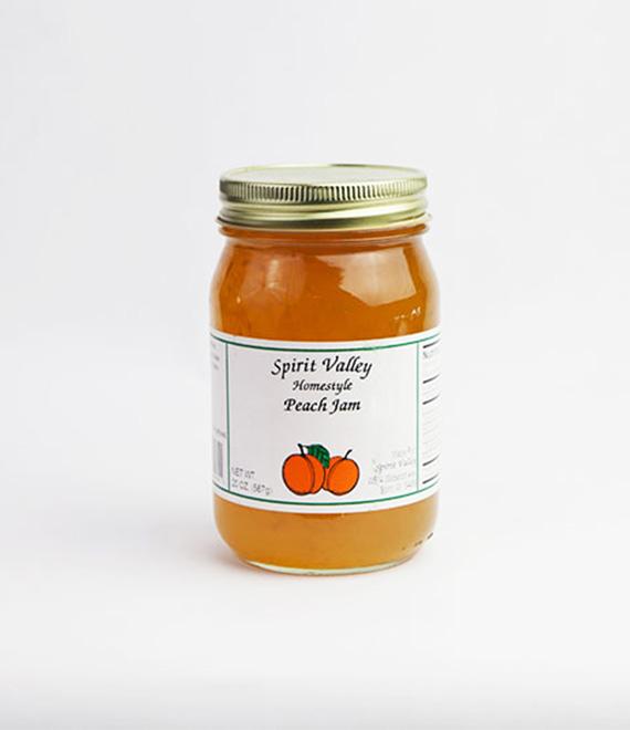 Spirit Valley Peach Jam-20oz
