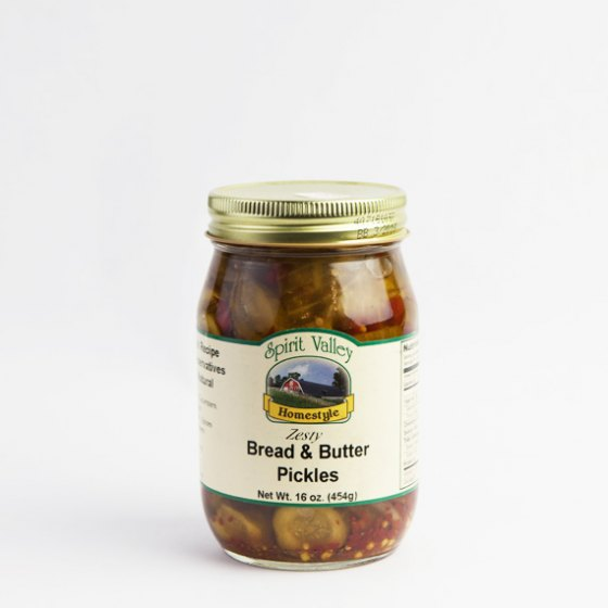 Spirit Valley Zesty Bread and Butter Pickles-16 oz