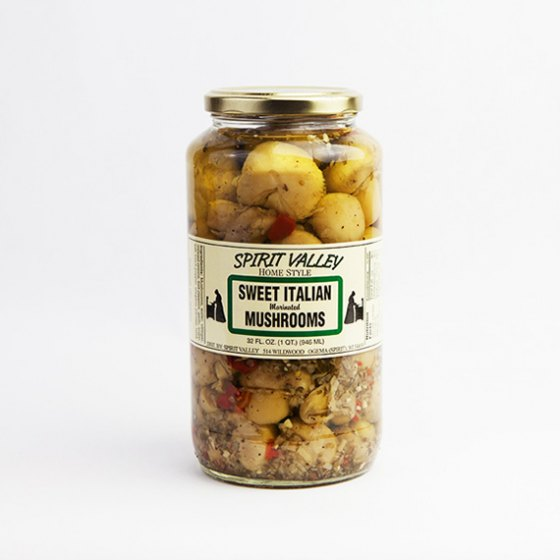 Spirit Valley Homestyle Sweet Italian Marinated Mushrooms-32oz