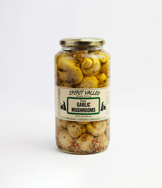 Spirit Valley Homestyle Zesty Garlic Mushrooms-32 oz