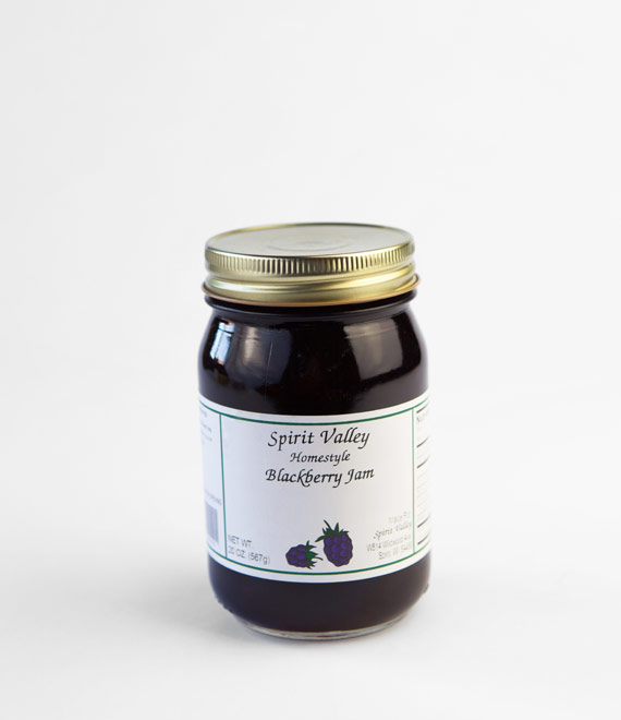 Spirit Valley Blackberry Jam-20oz