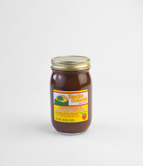 Sunrise Orchards Unsweetened Apple Butter 16 oz.