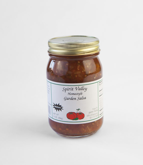 Spirit Valley Homestyle Medium Garden Salsa 16oz.
