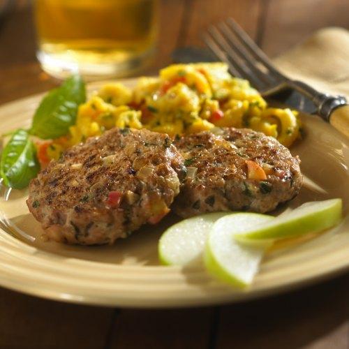 Chicken Apple Basil Sausage Patties
