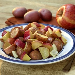 One-Dish Roasted Potatoes and Apples with Chicken Sausage