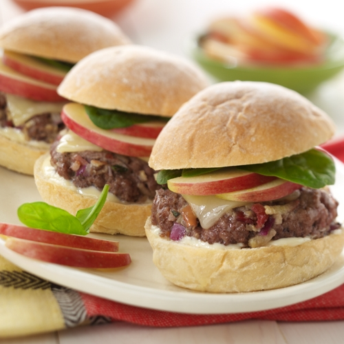 Bacon 'N' Apple Cheeseburger Sliders