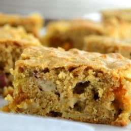 Chunky Apple Butterscotch Bars