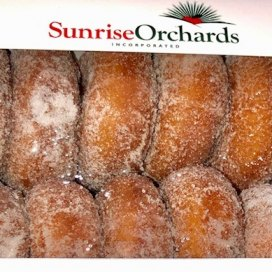 Sunrise Orchards apple cider donuts.  That's what we're known for!
