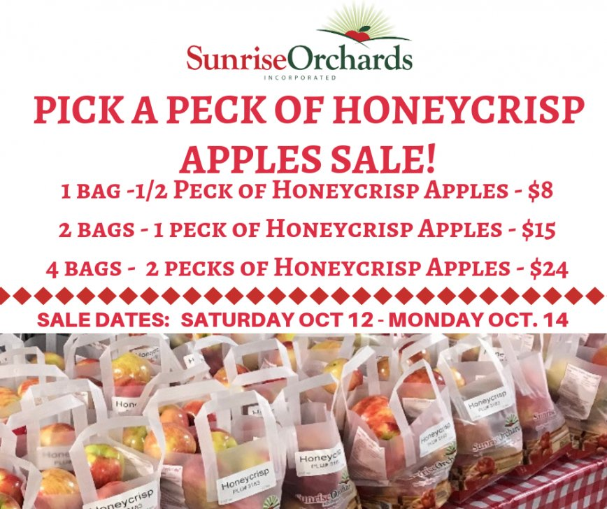 Pick a Peck of Honeycrisp Apples Sale!
