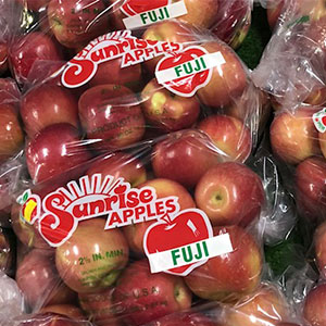 Fuji Apples available at Sunrise Orchards!