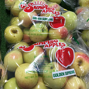 Golden Delicious Apples available at Sunrise Orchards!