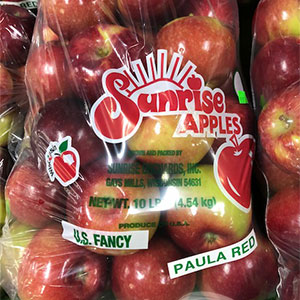 Paula Red Apples available at Sunrise Orchards!