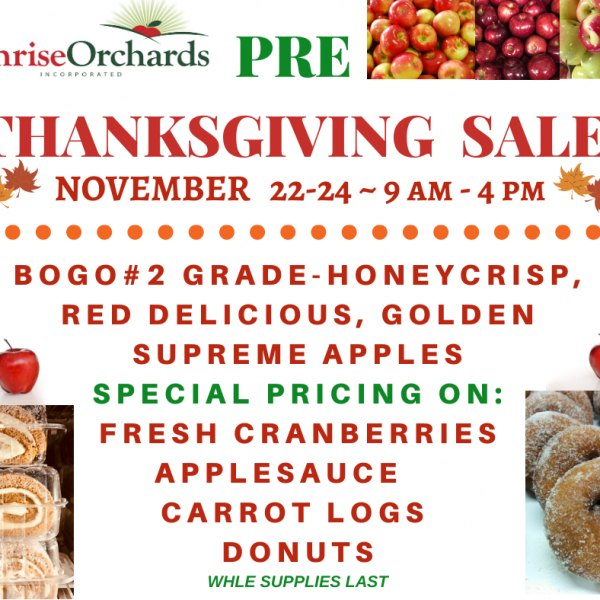 Pre-Thanksgiving Sale this Weekend Nov 22nd-24th!