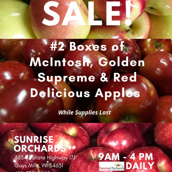 NEW Bogo on #2 Boxes of Apples!