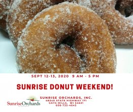Sunrise Orchards Donut Weekend!  9 am - 5 pm