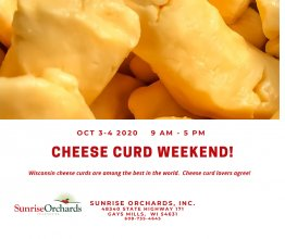 Cheese Curd Weekend!  9 am - 5 pm
