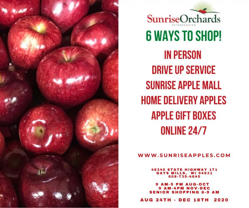 6 Ways to SHOP at Sunrise Orchards in 2020!