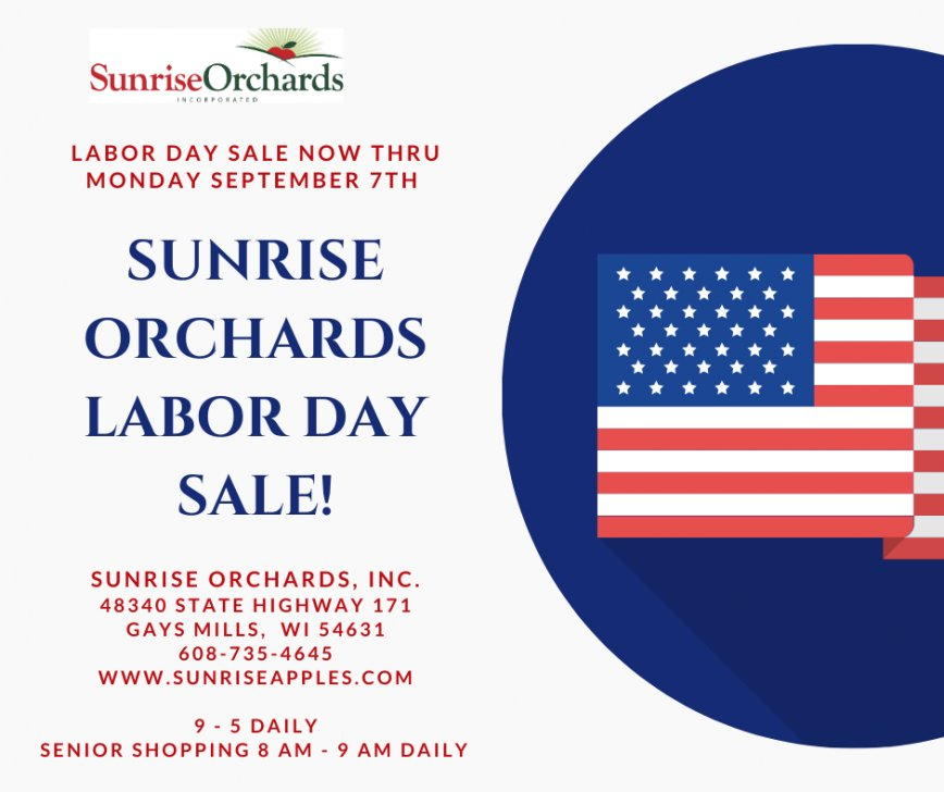 Labor Day Sale NOW through Monday Sept. 7th!