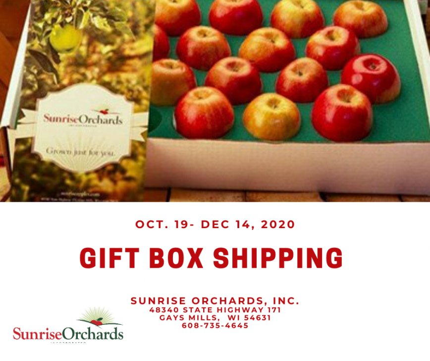 Sunrise Orchards Wisconsin Apple Gift Boxes