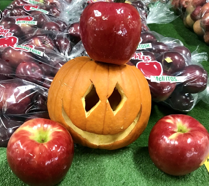 Anyone in Costume Oct. 30-Nov. 1 Gets a Free Monster Sized Honeycrisp Apple + a Plain Caramel Apple!!