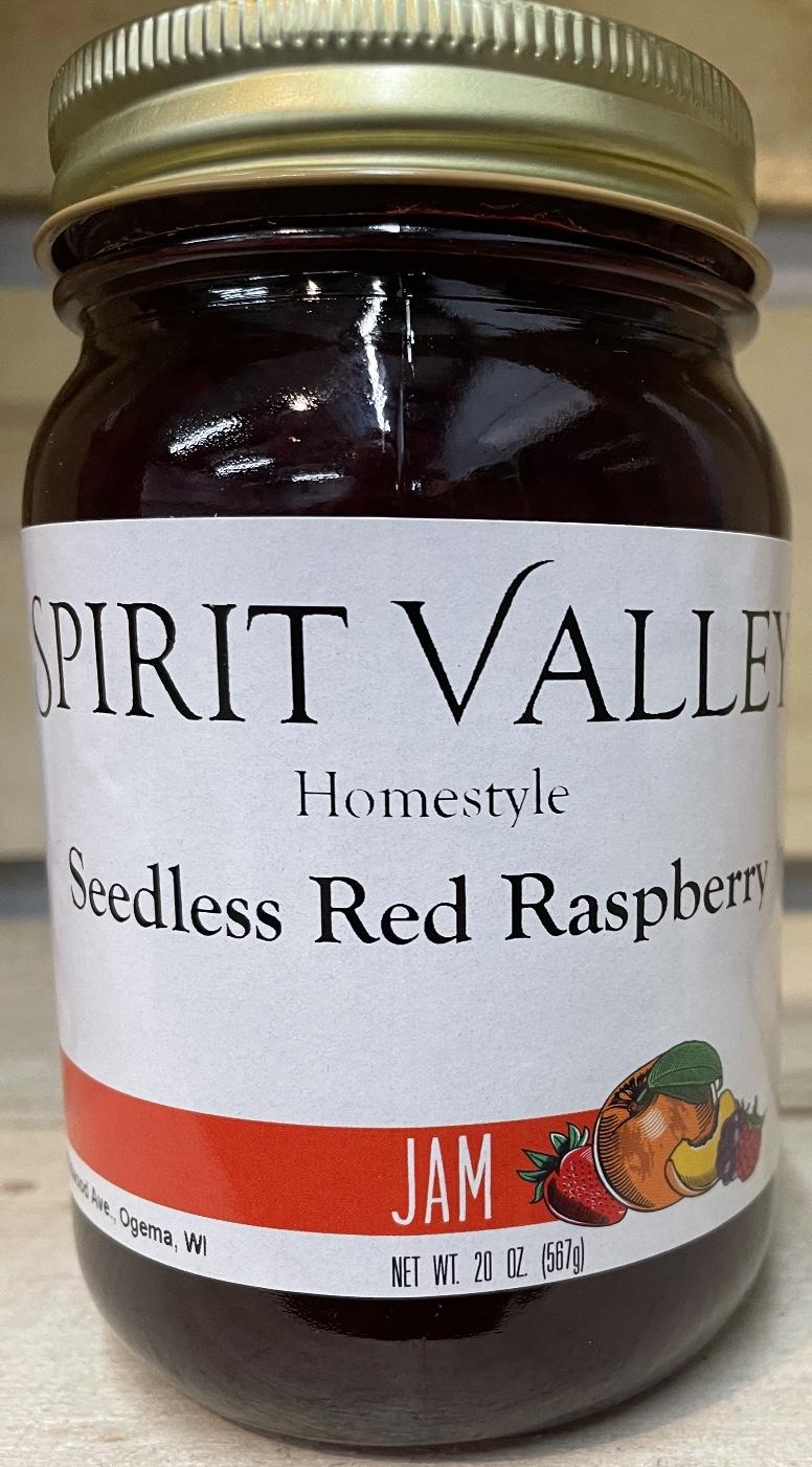 Spirit Valley Red Raspberry Seedless Jam–20 oz