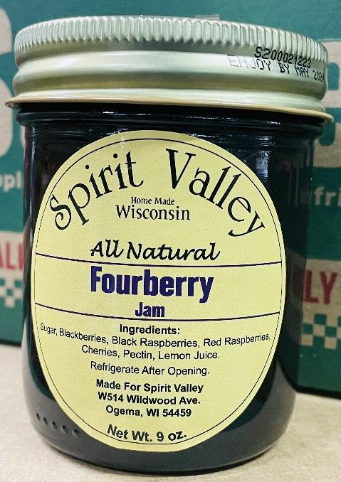Spirit Valley Fourberry Jam – 9 oz